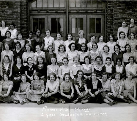 Lucy Flowers graduating class, 1932.